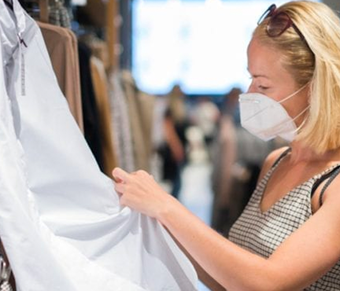 Foot traffic in clothing stores approaches pre-pandemic levels
